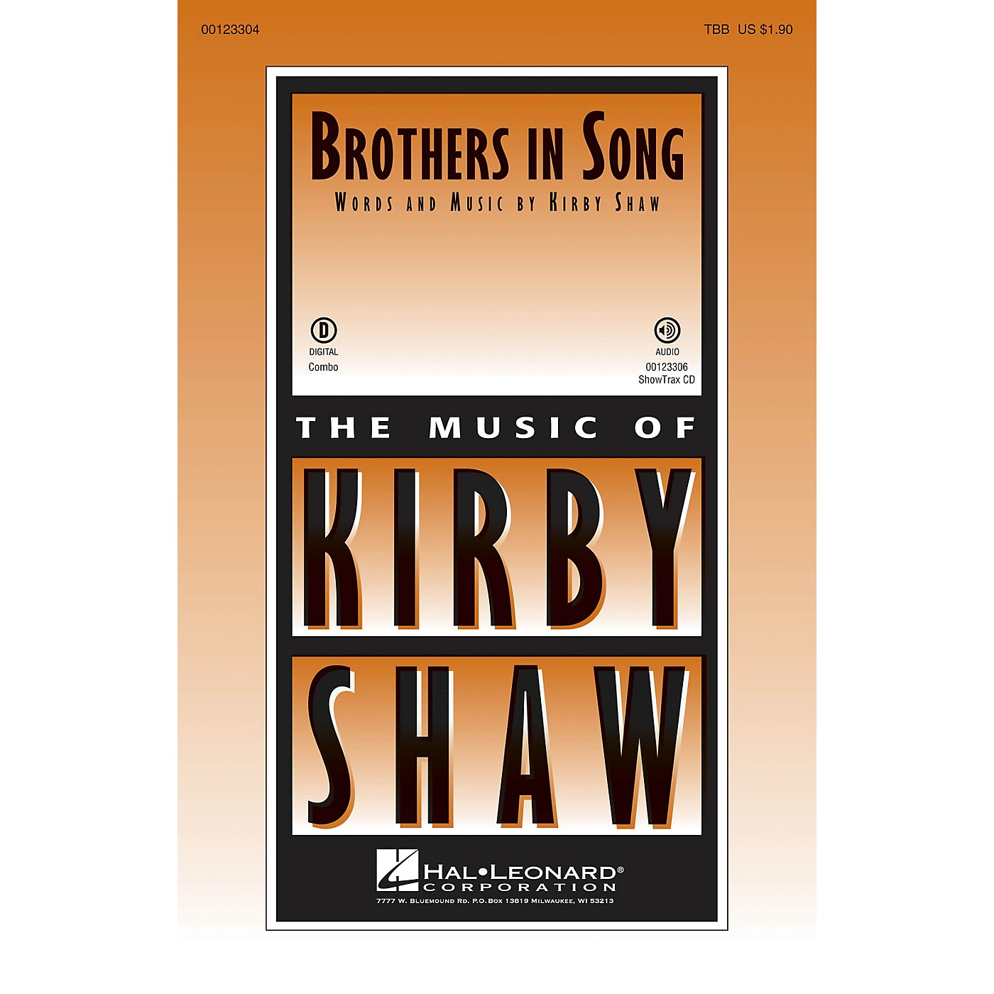 Hal Leonard Brothers In Song TBB composed by Kirby Shaw thumbnail