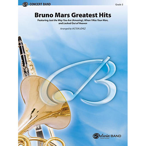 Alfred Bruno Mars Greatest Hits Concert Band Grade 3 thumbnail