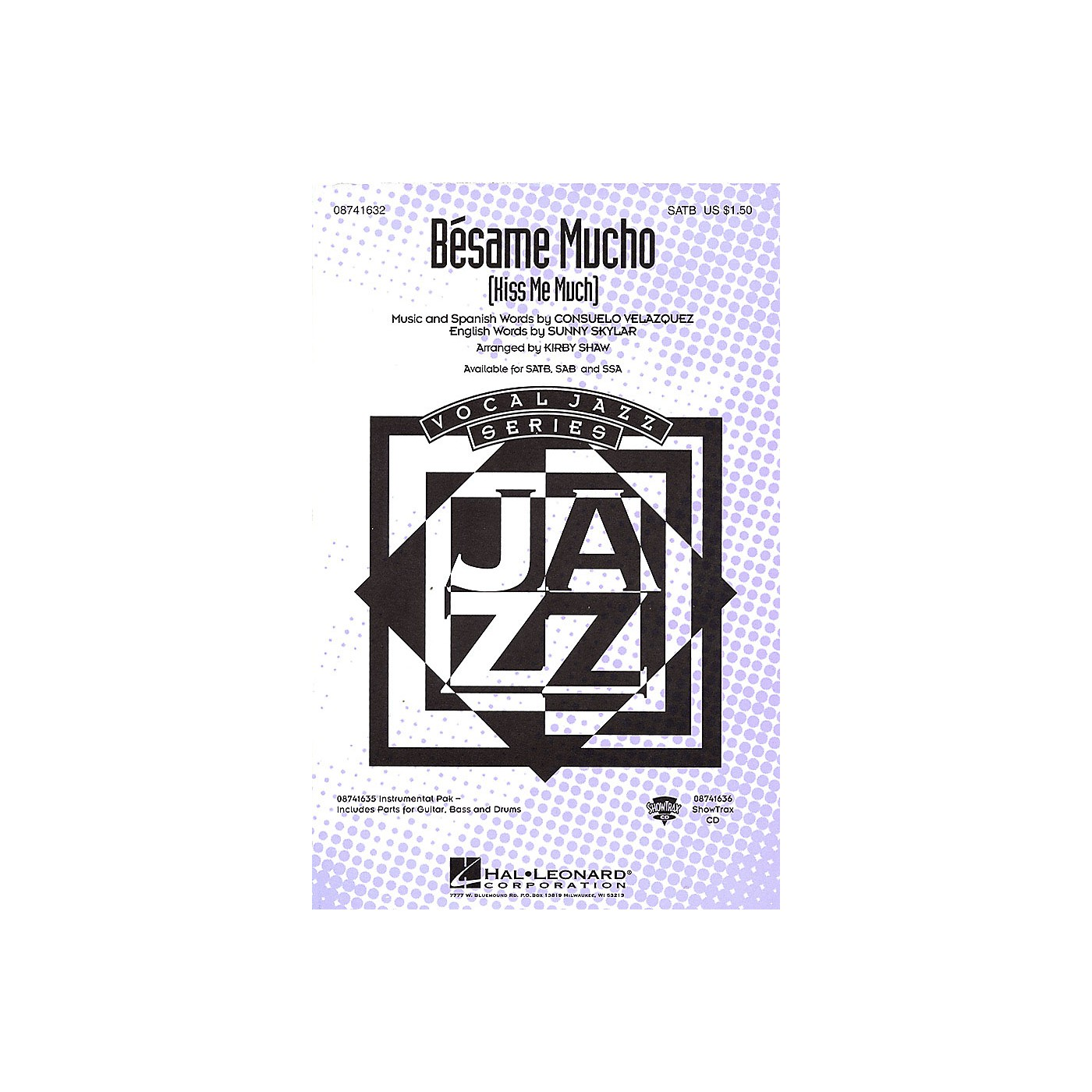 Hal Leonard Bésame Mucho (Kiss Me Much) SSA by The Coasters Arranged by Kirby Shaw thumbnail