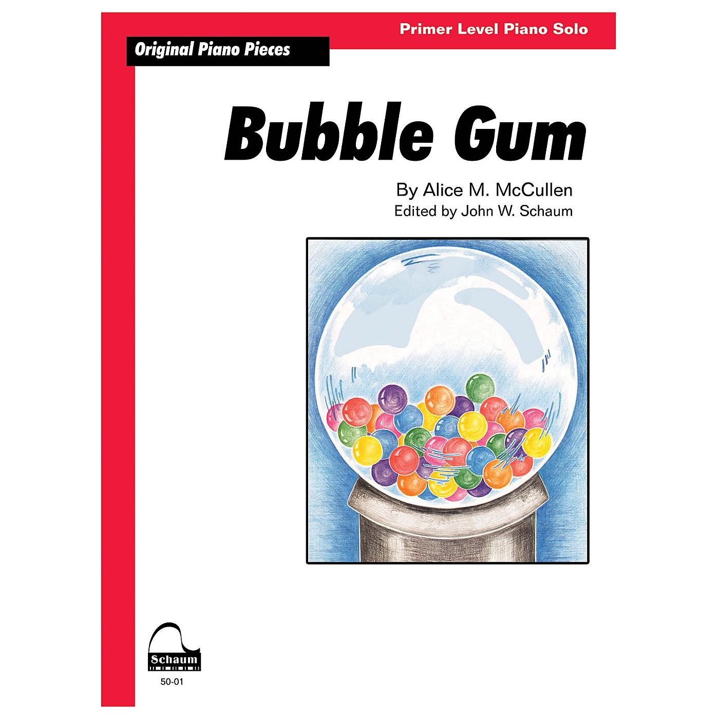 SCHAUM Bubble Gum Educational Piano Series Softcover thumbnail