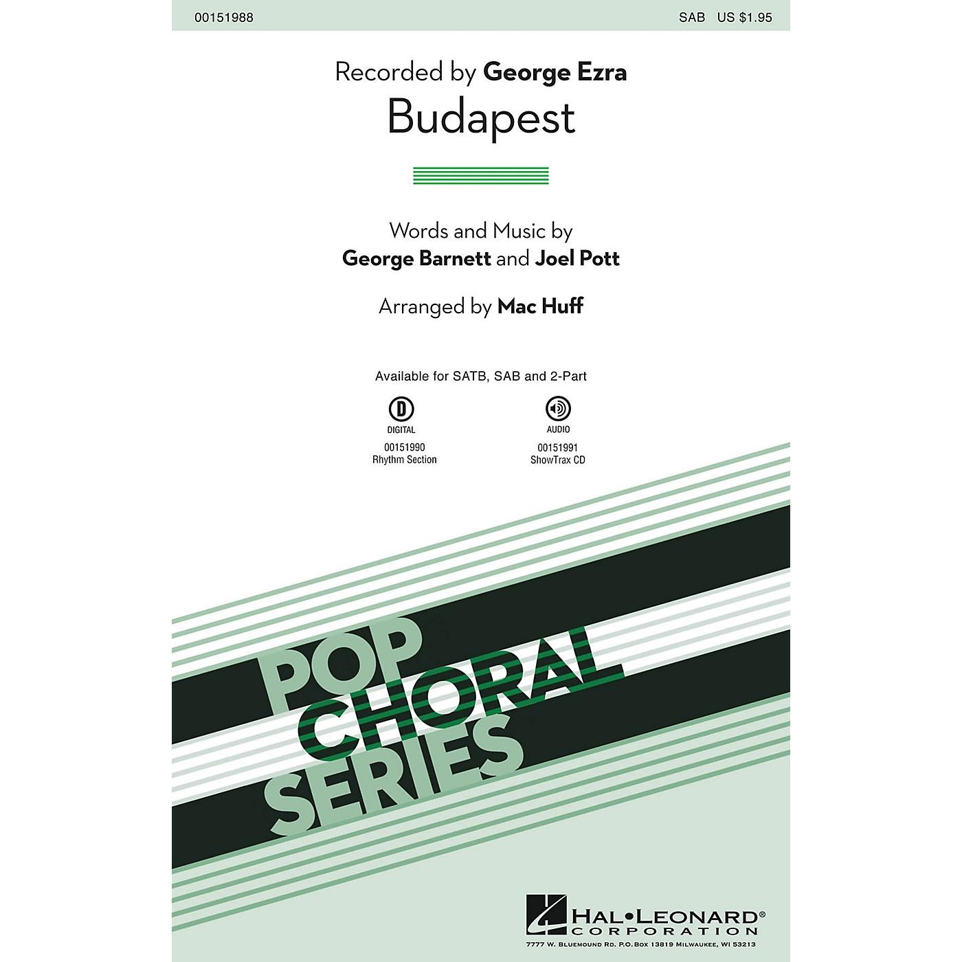 Hal Leonard Budapest SAB by George Ezra arranged by Mac Huff thumbnail
