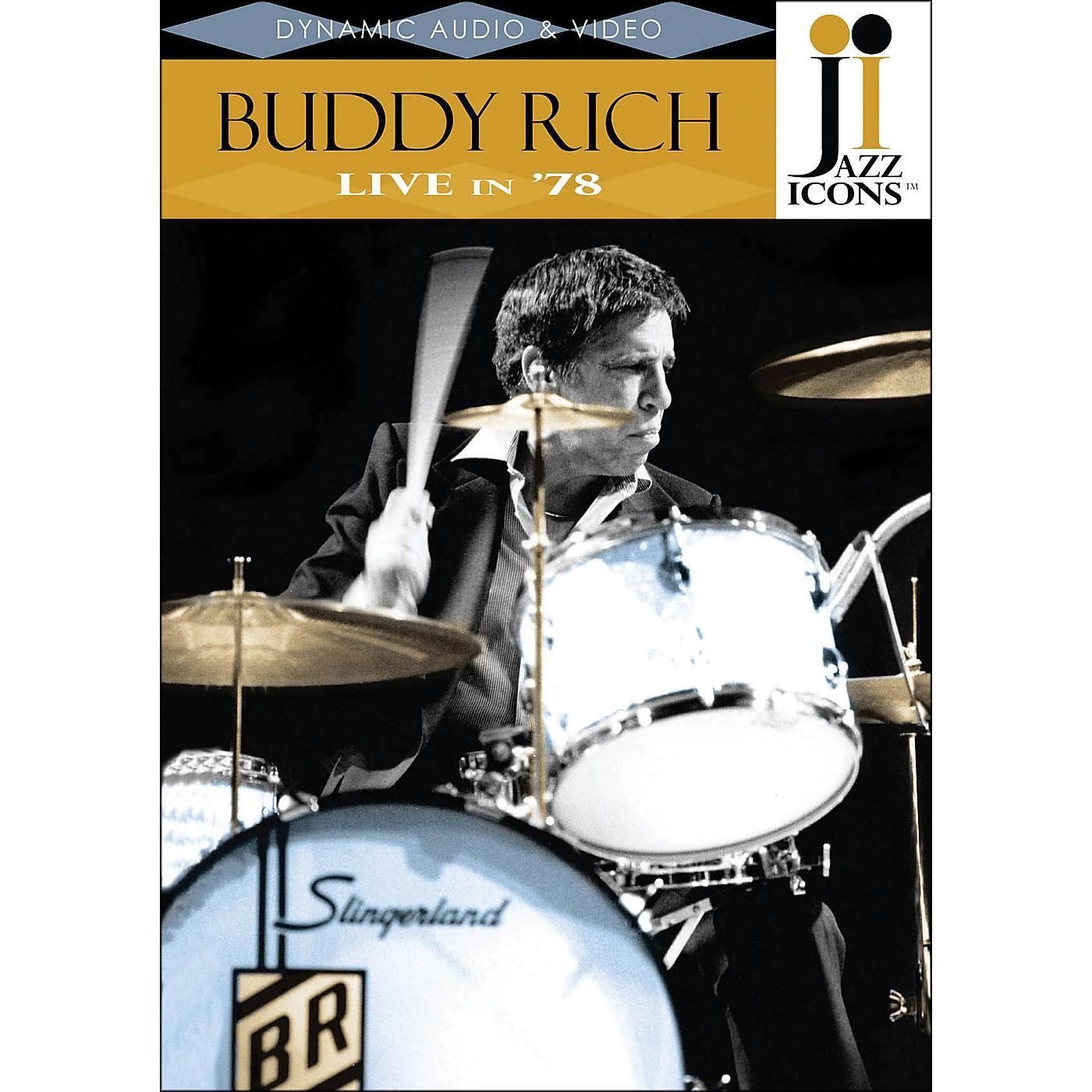 Hal Leonard Buddy Rich Live In '78 DVD Jazz Icons thumbnail