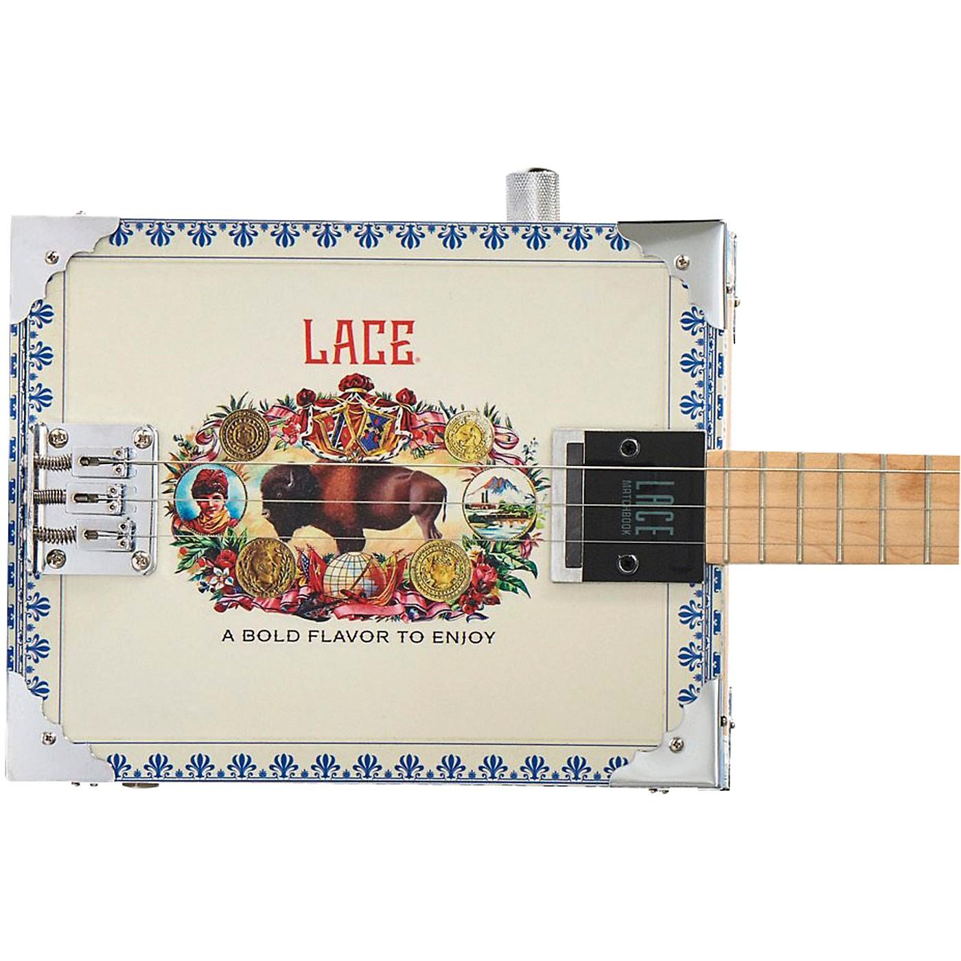 Lace Buffalo Bull Acoutic-Electric Cigar Box Guitar thumbnail