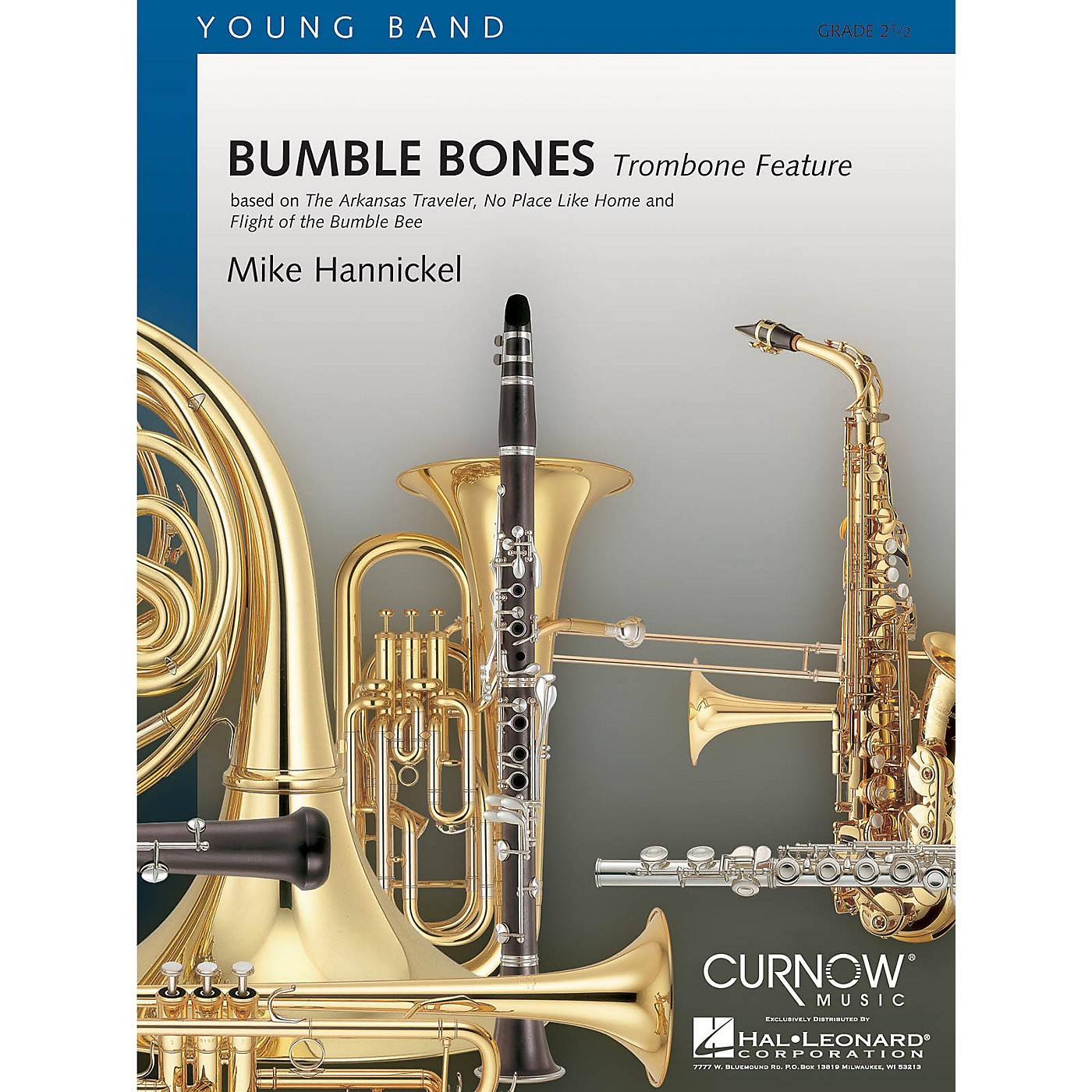 Curnow Music Bumble Bones (Grade 2.5 - Score Only) Concert Band Level 2.5 Composed by Mike Hannickel thumbnail