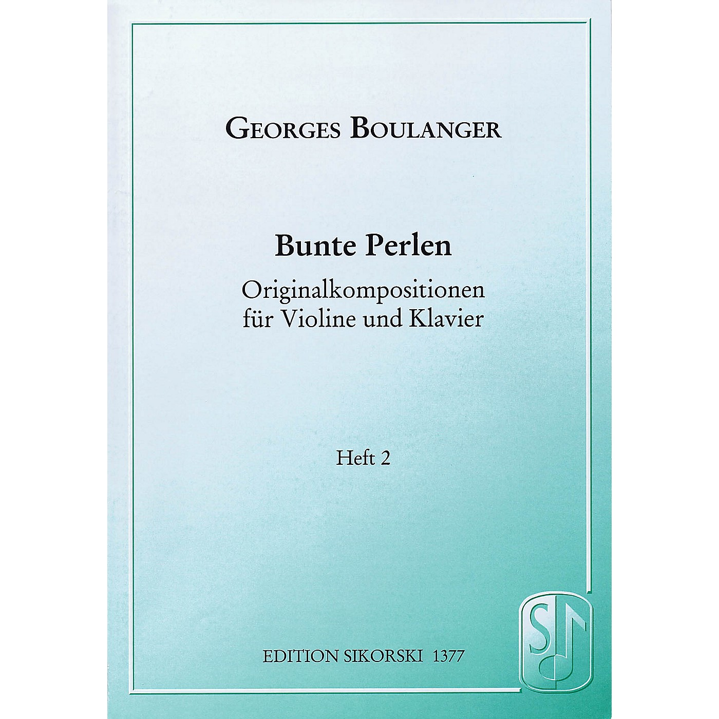 Sikorski Bunte Perlen (Multicolored Beads) String Series Softcover Composed by Georges Boulanger thumbnail