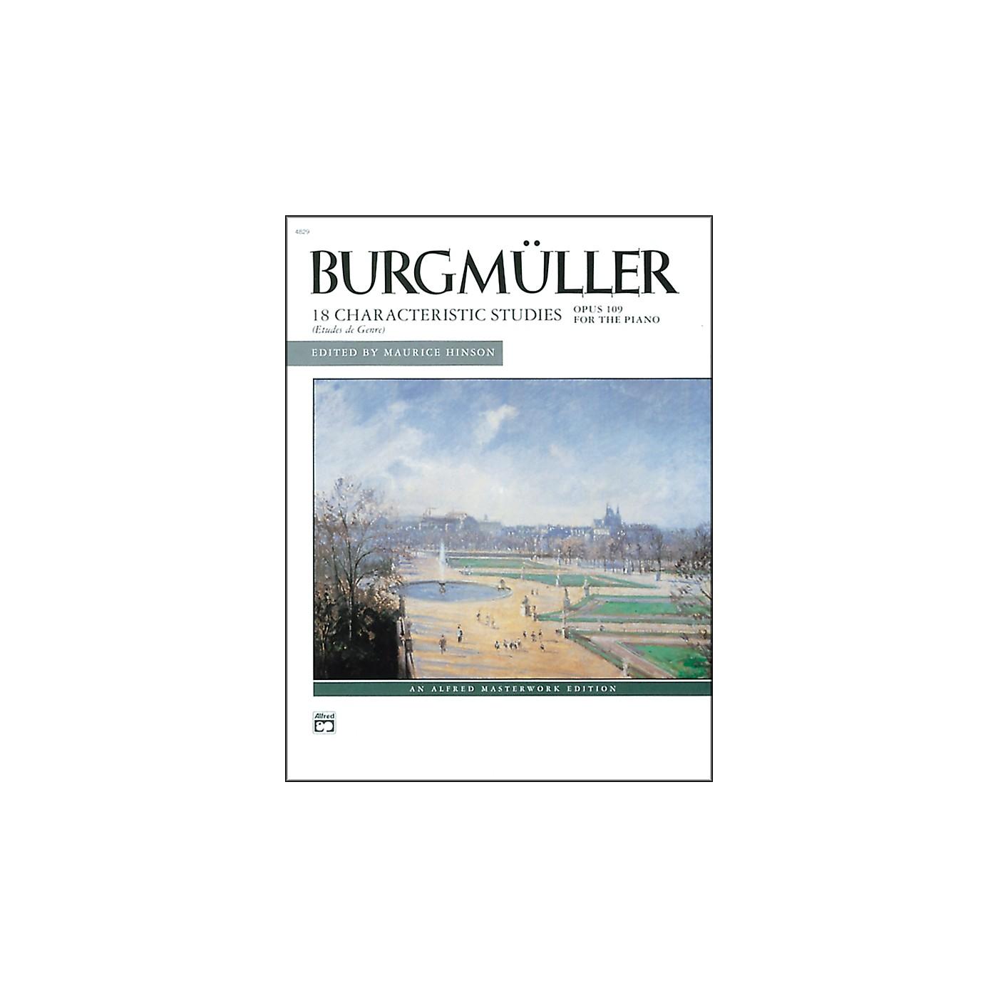 Alfred Burgm¼ller 18 Characteristic Studies Op. 109 Intermediate/Late Intermediate Piano thumbnail