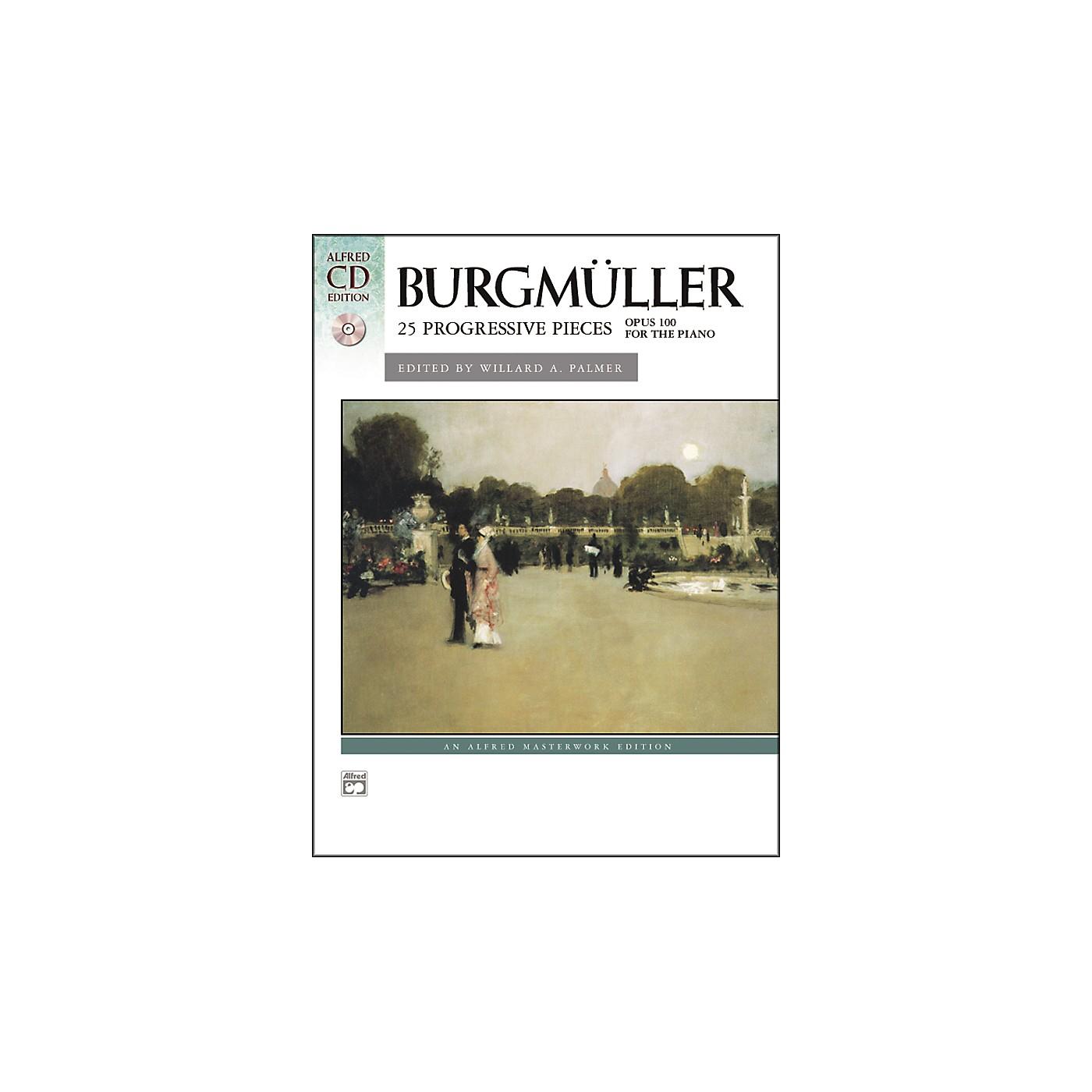 Alfred Burgmuller 25 Progressive Pieces Op. 100 Early Intermediate/Late Intermediate Piano Book & CD thumbnail