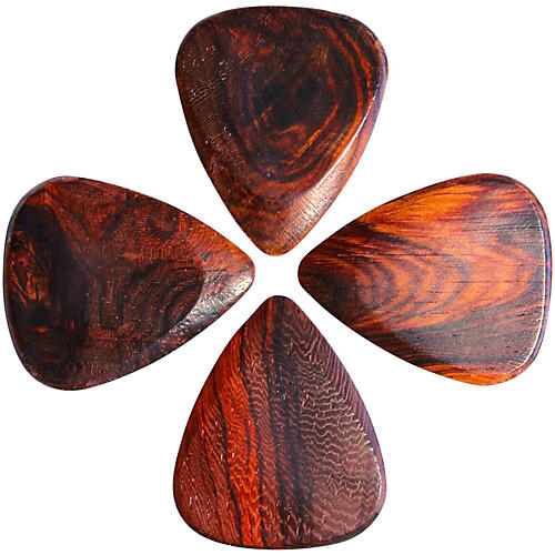 Timber Tones Burma Padauk Guitar Picks, 4-Pack thumbnail