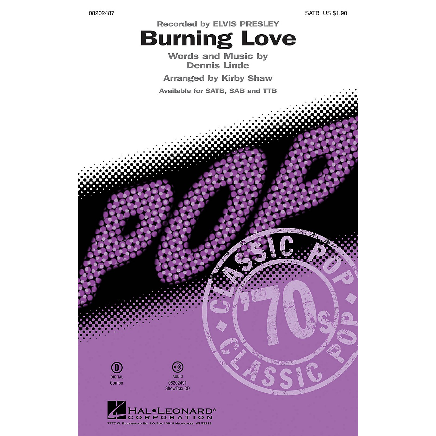 Hal Leonard Burning Love SATB by Elvis Presley arranged by Kirby Shaw thumbnail