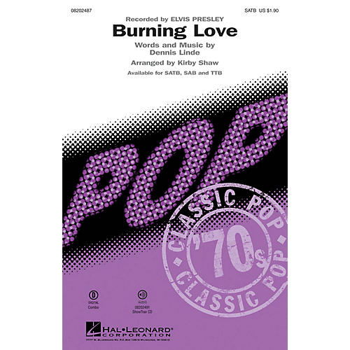 Hal Leonard Burning Love ShowTrax CD by Elvis Presley Arranged by Kirby Shaw thumbnail