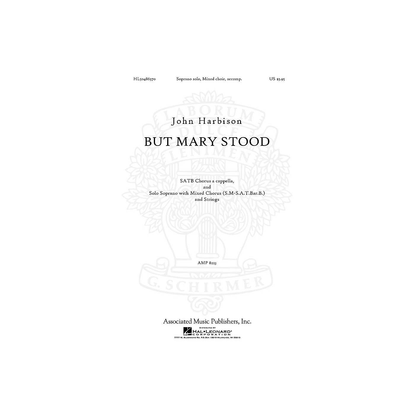 Associated But Mary Stood SATB composed by John Harbison thumbnail