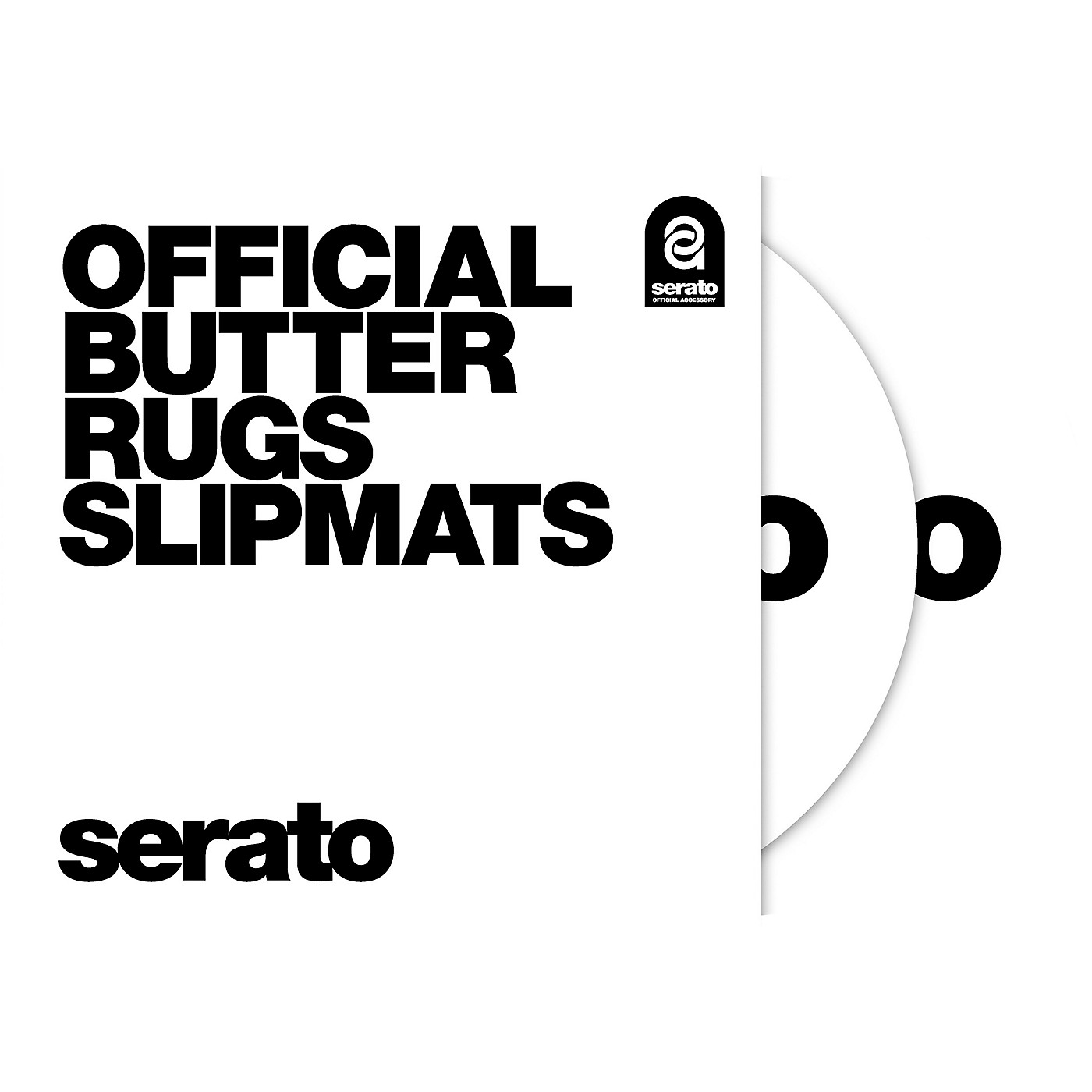 SERATO Butter Rug Thud Rumble 12 in. Black Slipmats (Pair) thumbnail