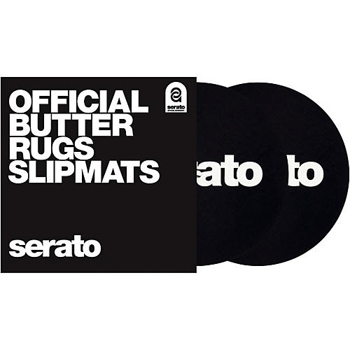 SERATO Butter Rug Thud Rumble 7 in. Black Turntable Slipmats (Pair) thumbnail