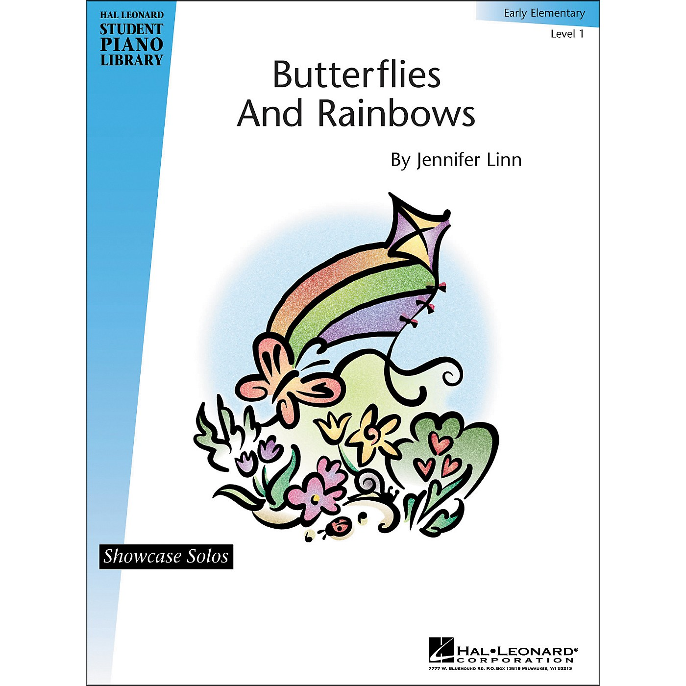 Hal Leonard Butterflies And Rainbows Early Elementary Level 1 Showcase Solos Hal Leonard Student Piano Library thumbnail
