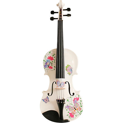 Rozanna's Violins Butterfly Dream White Glitter Series Violin Outfit thumbnail