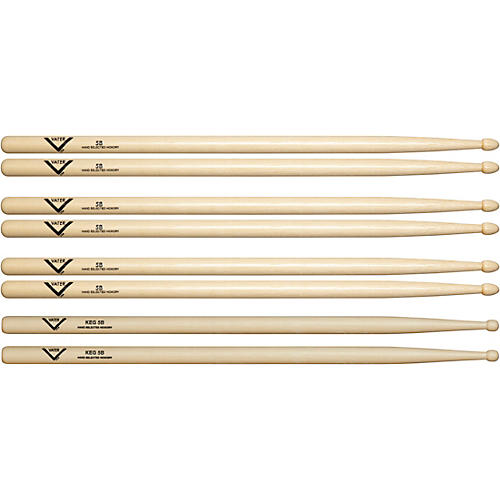 Vater Buy 3 - 5B Wood Drum Sticks, Get 1 Free KEG 5B thumbnail