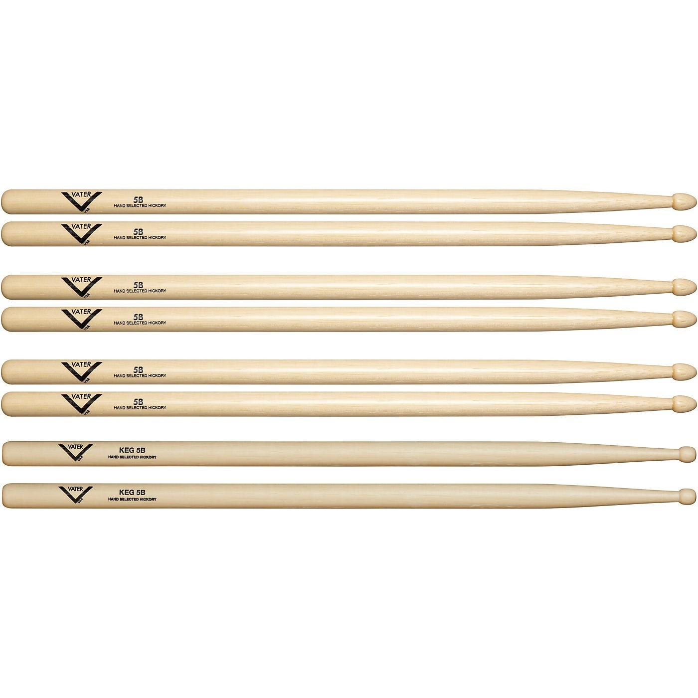 Vater Buy 3 5B Wood Drumsticks, Get 1 Free KEG 5B thumbnail