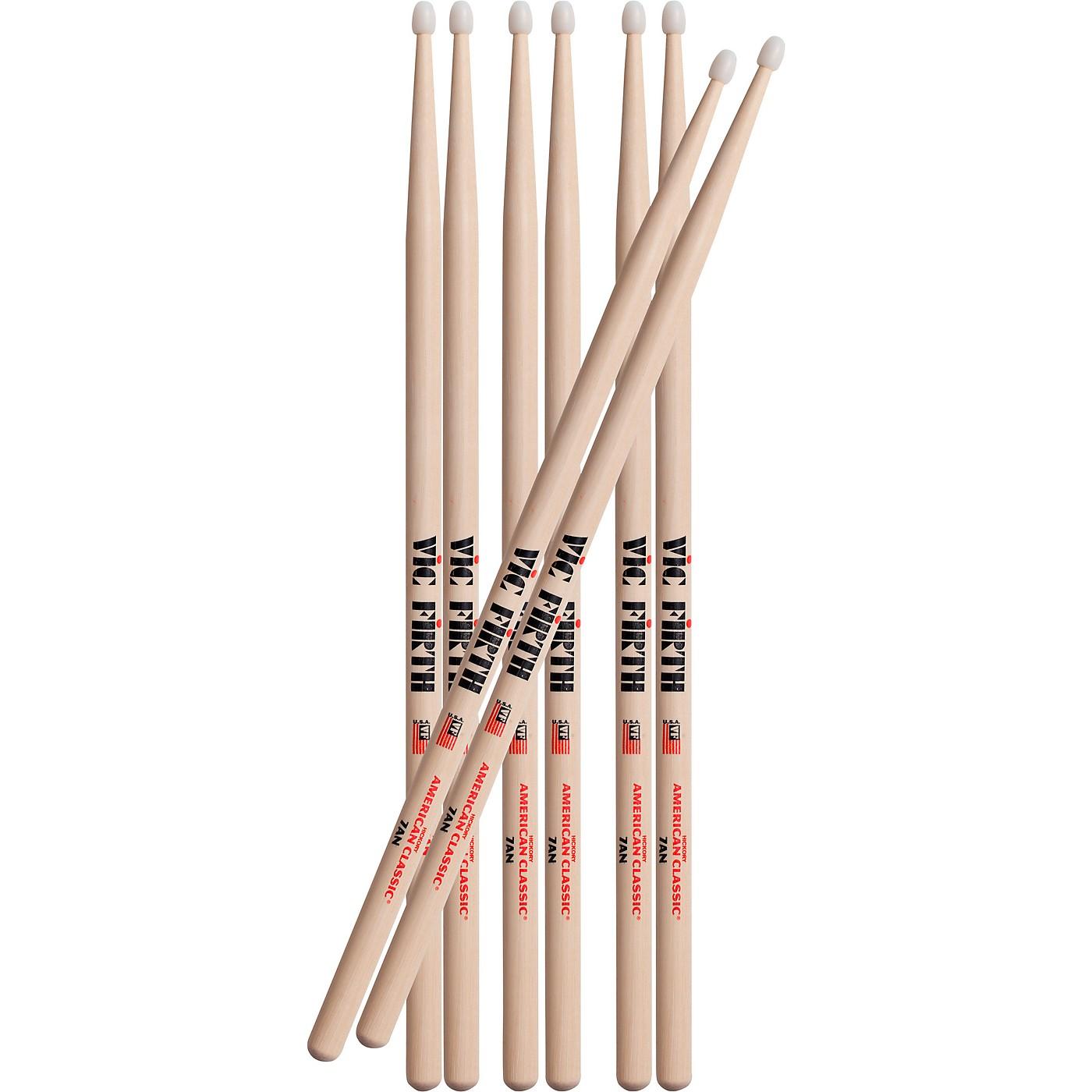 Vic Firth Buy Three Pairs 7AN Drum Sticks, Get One Pair Free thumbnail