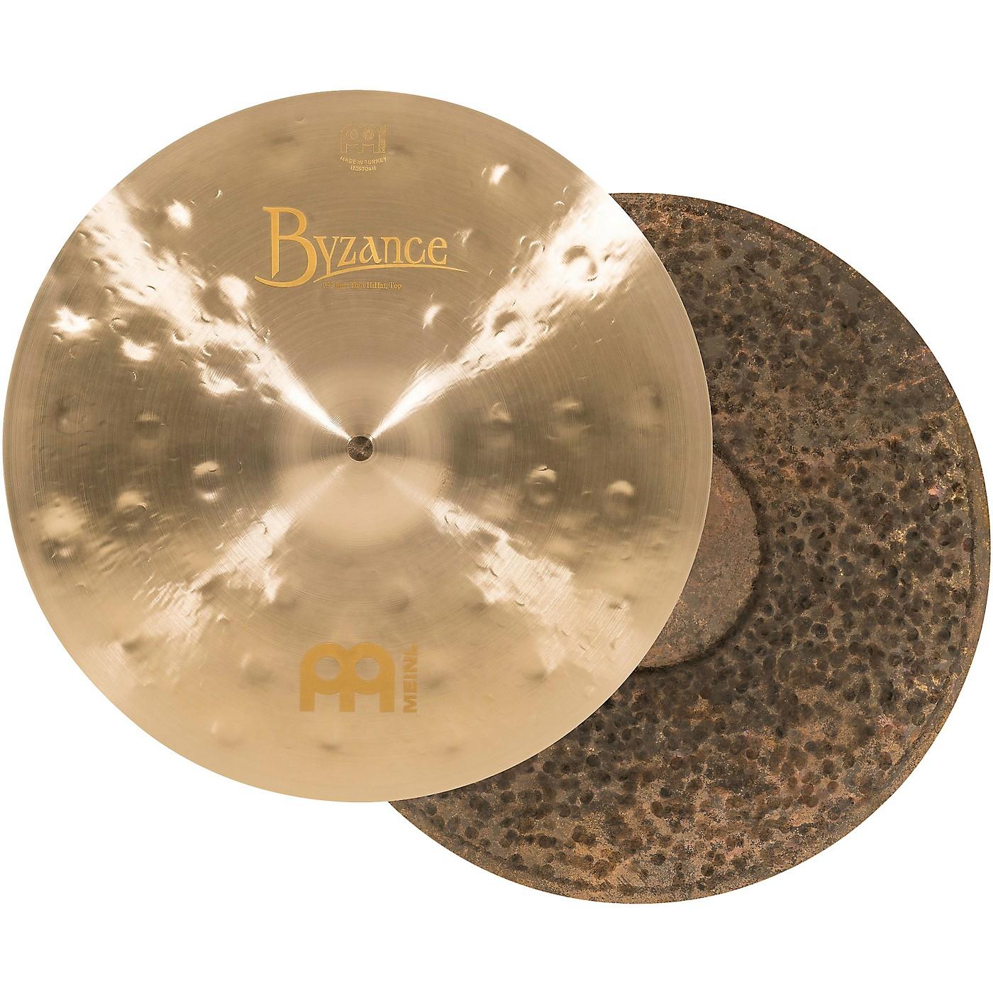 Meinl Byzance Jazz Thin Traditional Hi-Hat Cymbals thumbnail
