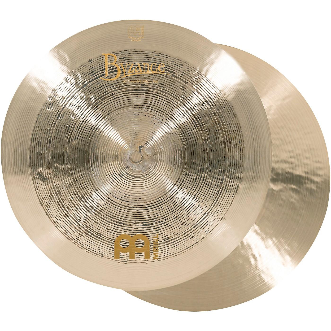 Meinl Byzance Jazz Tradition Hi-Hat Cymbal Pair thumbnail