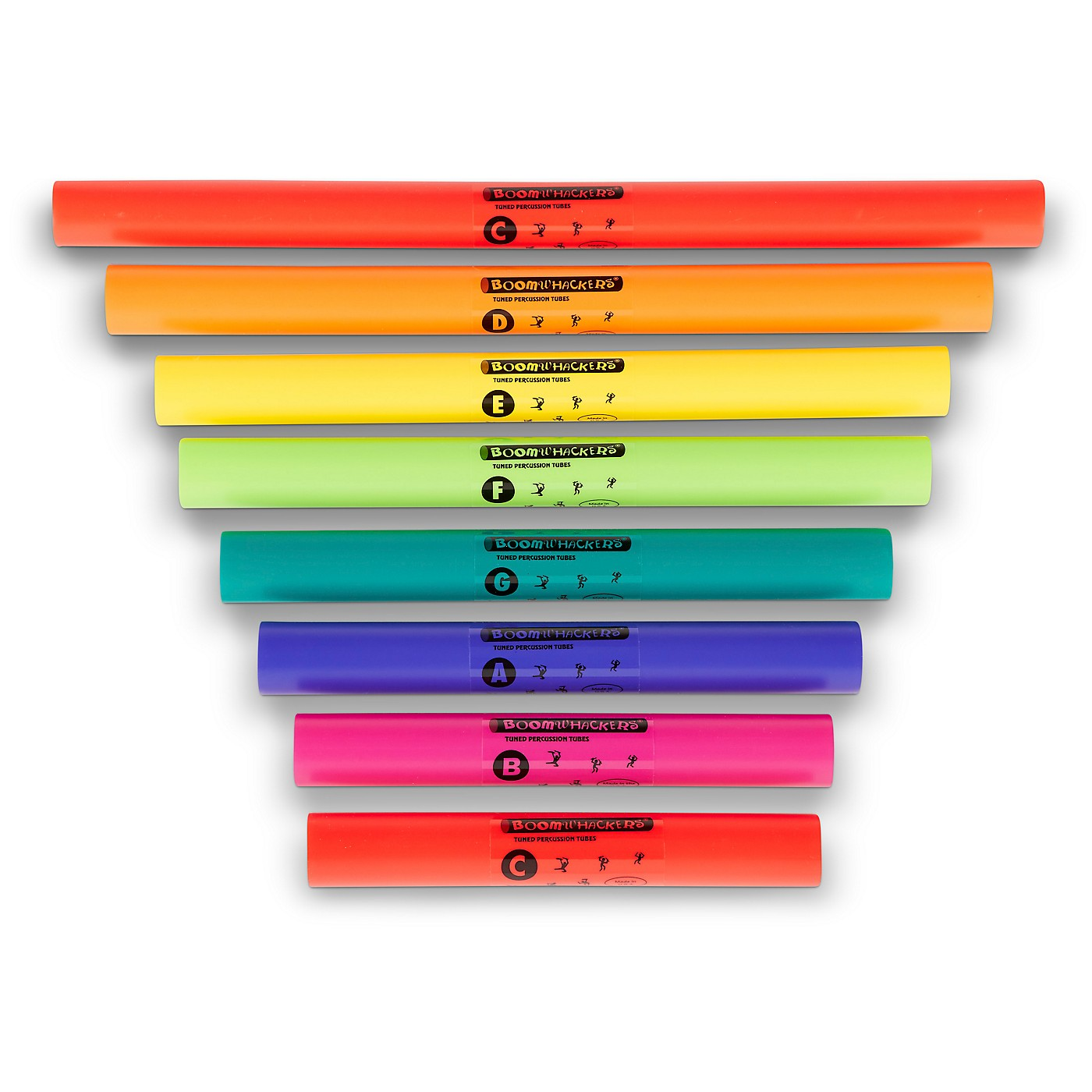 Boomwhackers C Major Diatonic Scale Set (Upper Octave) Boomwhackers Tuned Percussion Tubes thumbnail