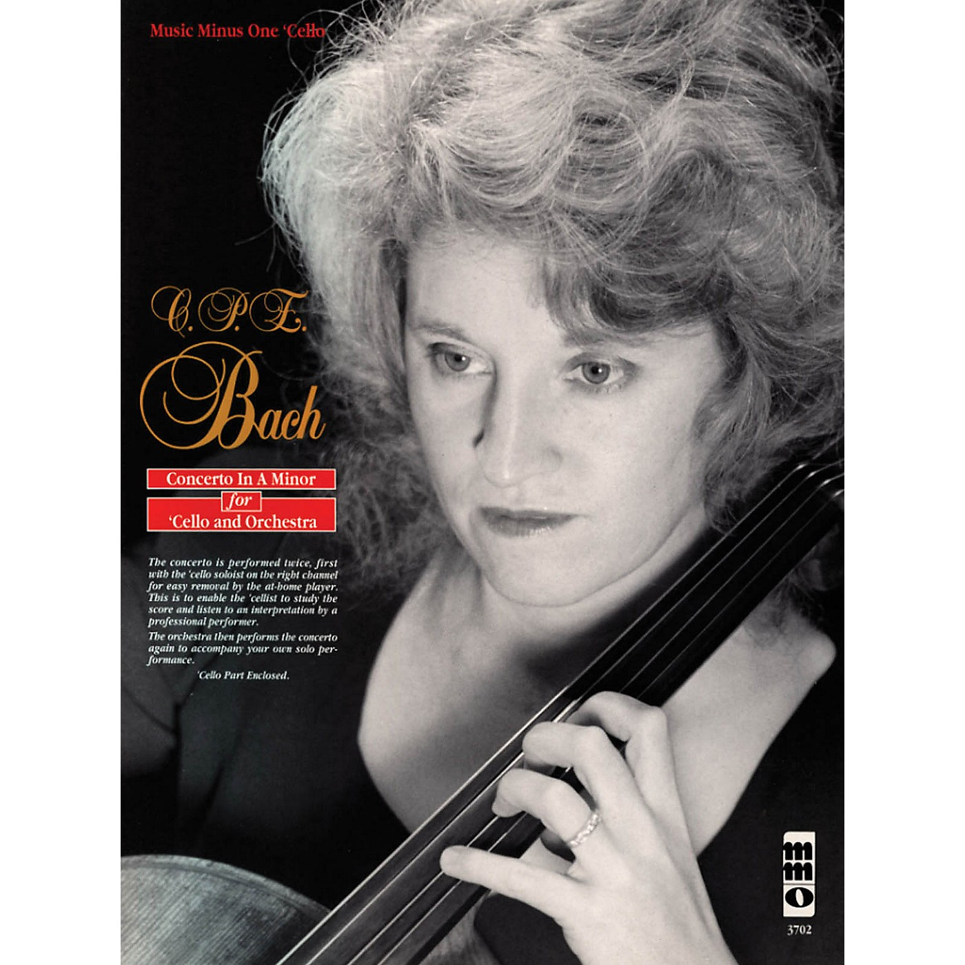 Music Minus One C.P.E. Bach - Violoncello Concerto in A Minor, Wq170/h432 Music Minus One Softcover with CD by Marcy Chanteaux thumbnail