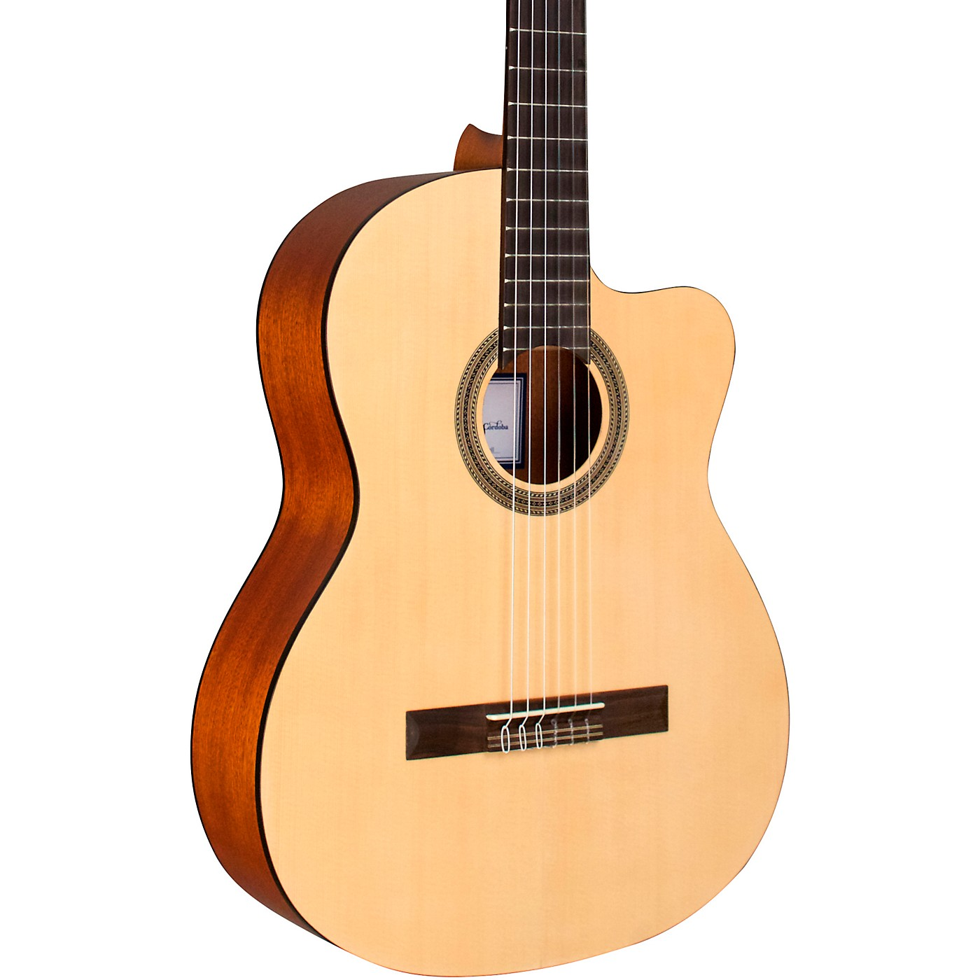 Cordoba C1M-CE Protege Cutaway Nylon-String Acoustic-Electric Classical Guitar thumbnail