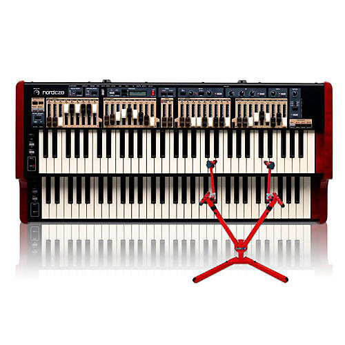 Nord C2D Combo Organ with Matching 2-Tier Keyboard Stand thumbnail