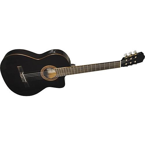 Cordoba C5-CETBK Thinbody Classical Acoustic-Electric Guitar Black thumbnail