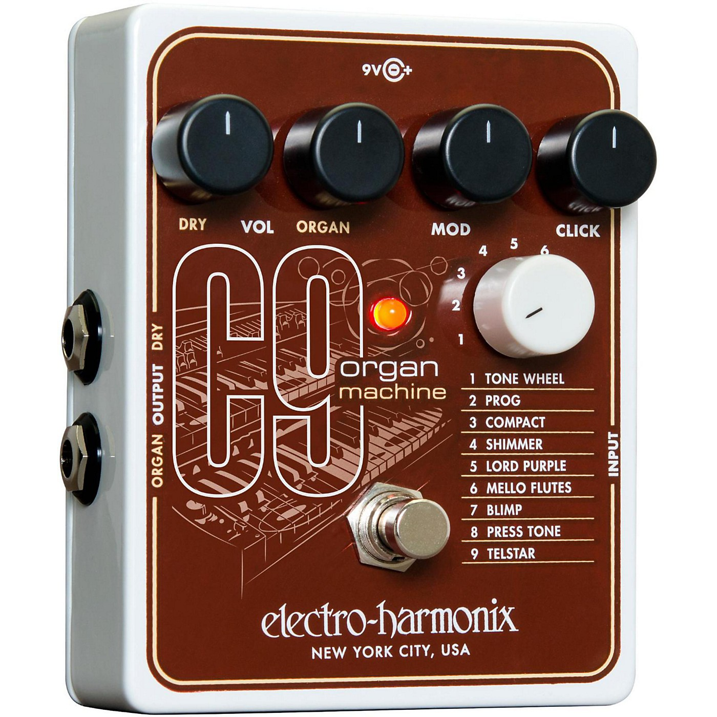 Electro-Harmonix C9 Organ Machine Guitar Effects Pedal thumbnail