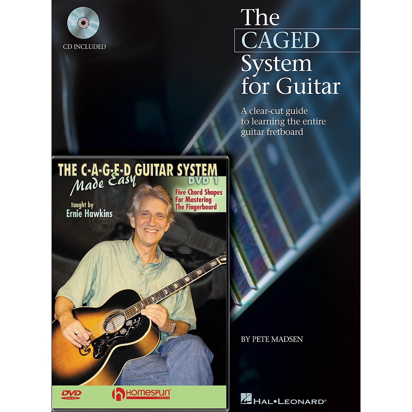 Homespun CAGED System Pack Homespun Tapes Series Softcover with DVD Written by Pete Madsen thumbnail