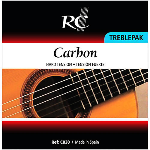 RC Strings CB30 Carbon Treblepak - 1st, 2nd and 3rd Strings for Nylon String Guitar thumbnail