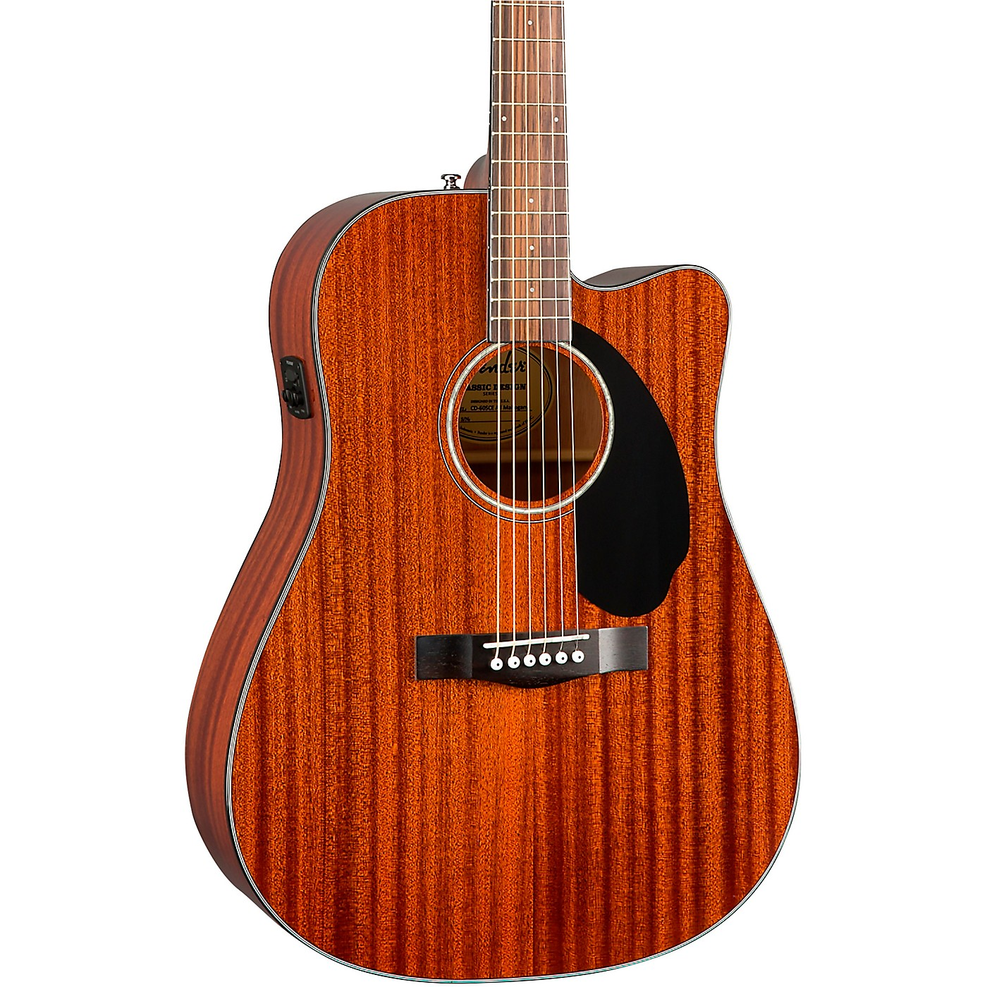 Fender CD-60SCE Dreadnought All-Mahogany Acoustic-Electric Guitar thumbnail