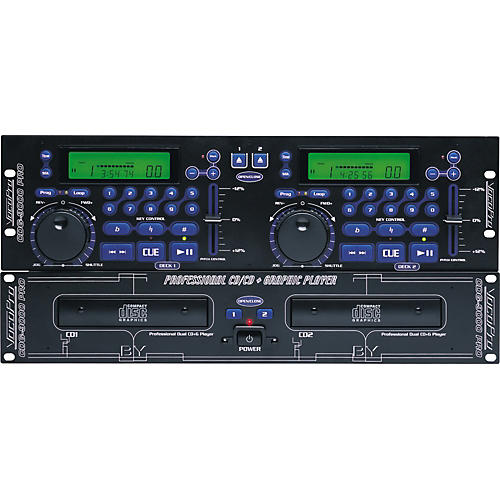 VocoPro CDG-9000PRO Professional Dual CD and CDG Player thumbnail