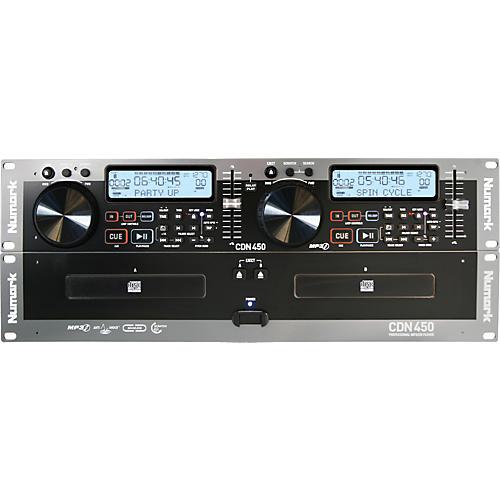 Numark CDN450 Rack Mount Professional Dual MP3/CD Player-thumbnail