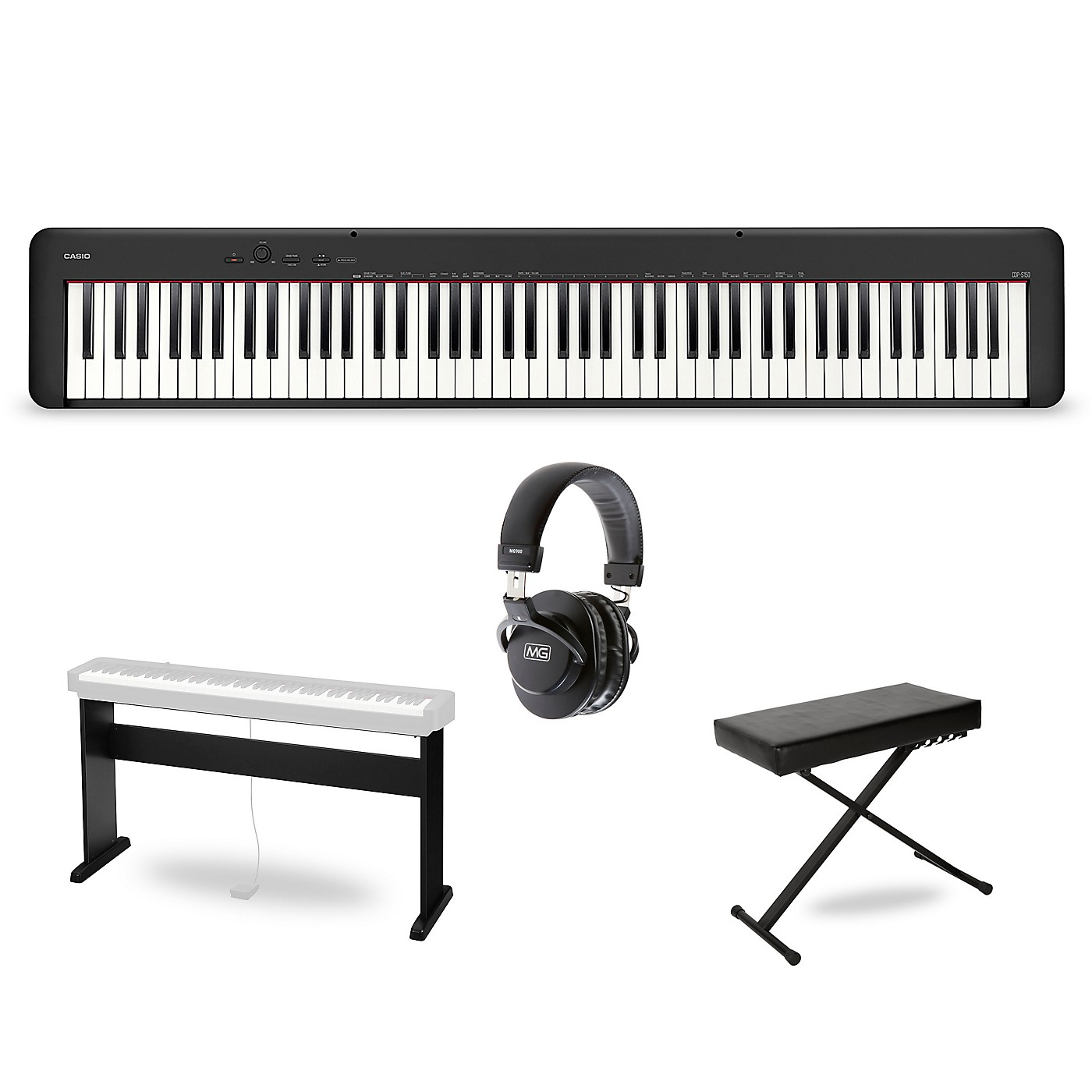 Casio CDP-S150 Keyboard with CS-46 Stand, Bench and Headphones thumbnail