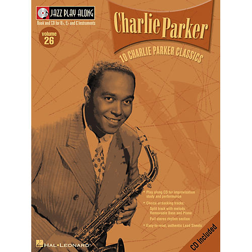 Hal Leonard CHARLIE PARKER - JAZZ PLAY-ALONG VOLUME 26 BK/CD thumbnail