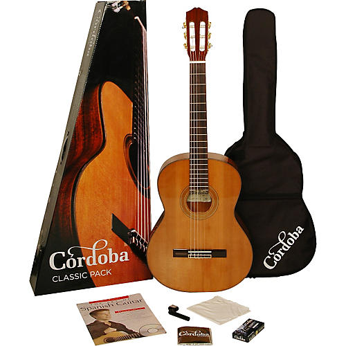 Cordoba CP110 Acoustic Nylon String Classical Guitar Pack thumbnail
