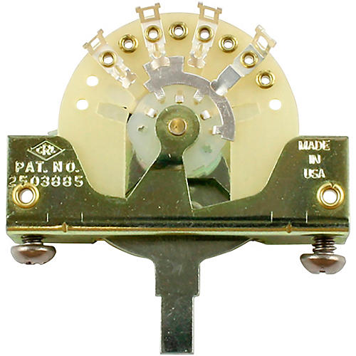 Allparts CRL 5-Way Blade Switch with Stainless Steel Screws thumbnail