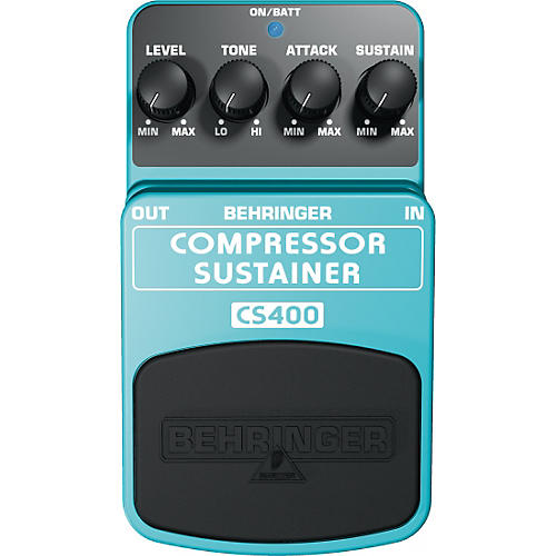 Behringer CS400 Compressor/Sustainer Guitar Effects Pedal-thumbnail
