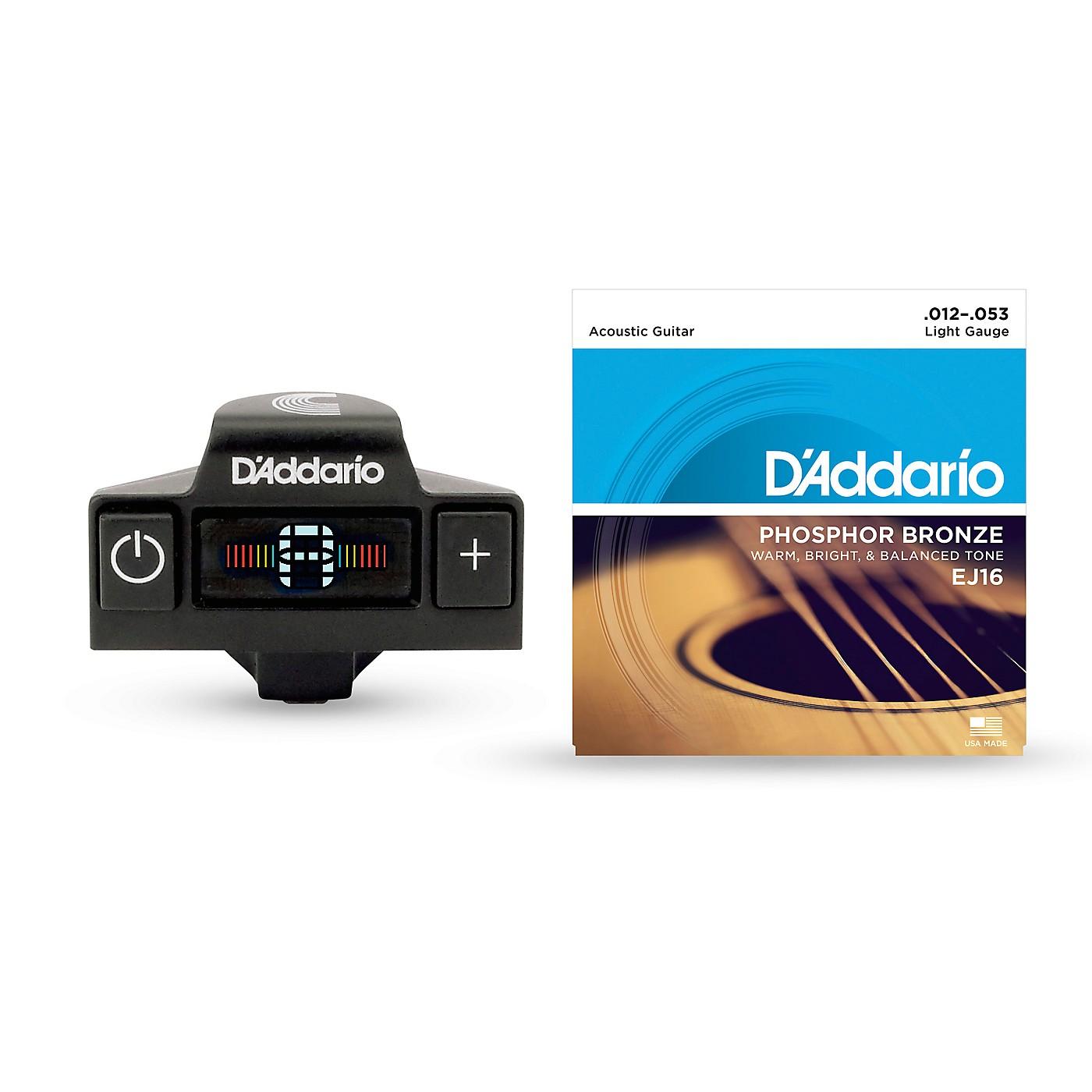 D'Addario CT-19 Acoustic Tuner EJ16 String Kit thumbnail
