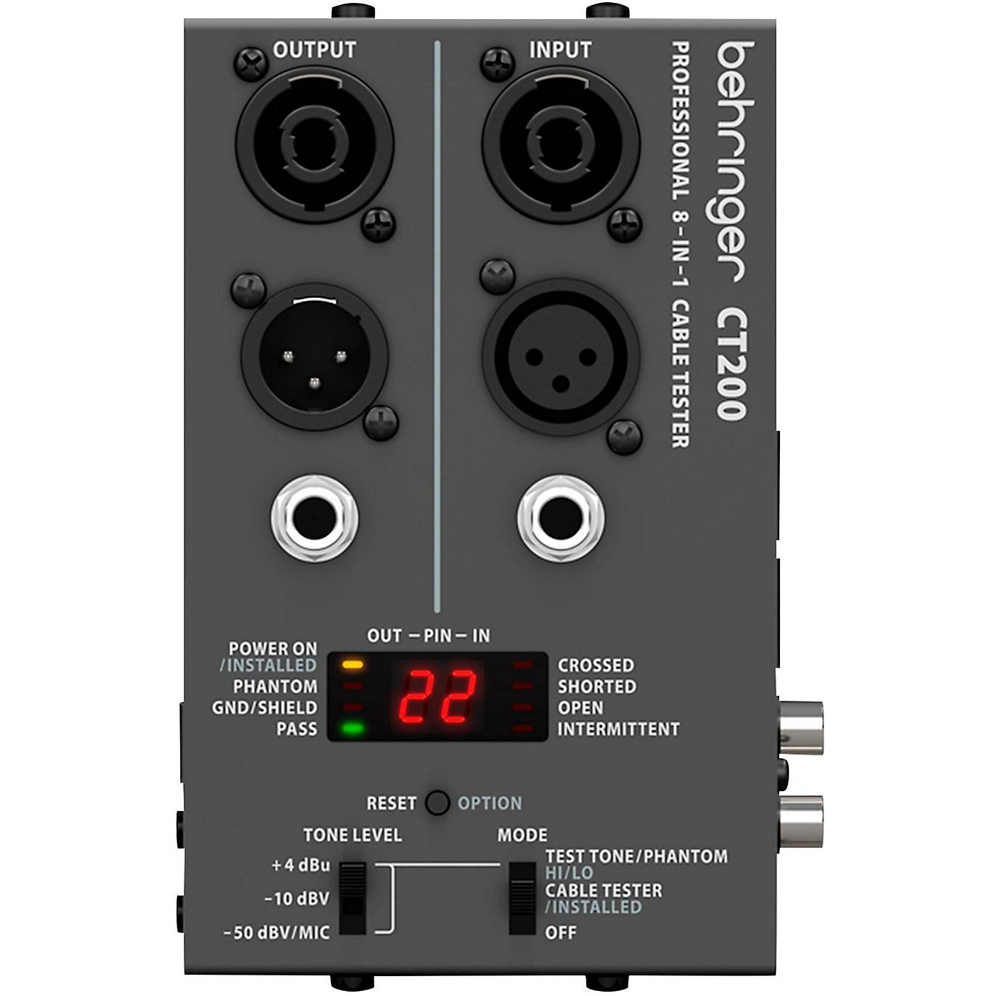 Behringer CT200 Microprocessor-Controlled 8-In-1 Cable Tester thumbnail