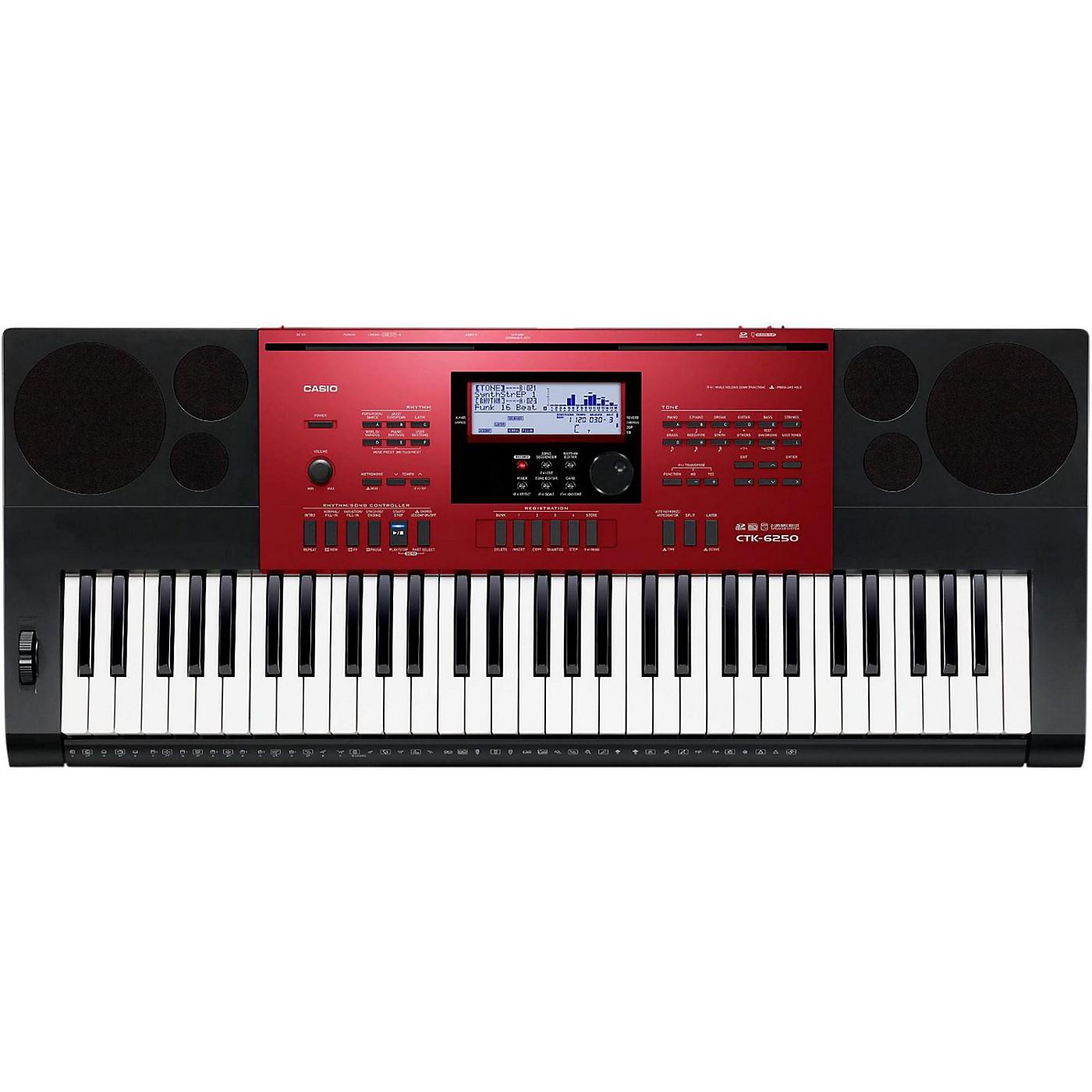 Casio CTK-6250 61 Keys Portable Keyboard thumbnail