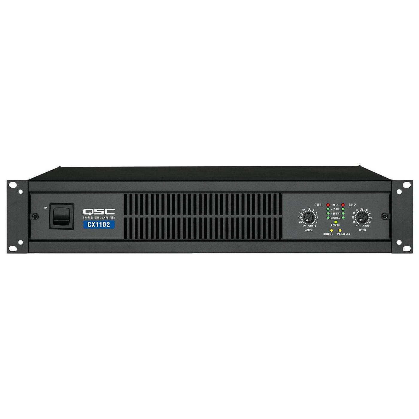 QSC CX1102 Stereo Power Amp thumbnail