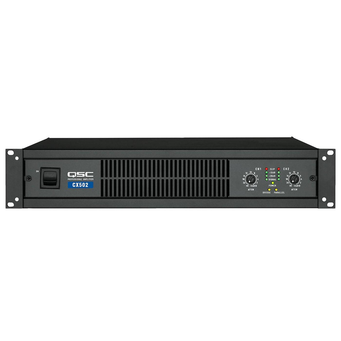 QSC CX502 Stereo Power Amp thumbnail