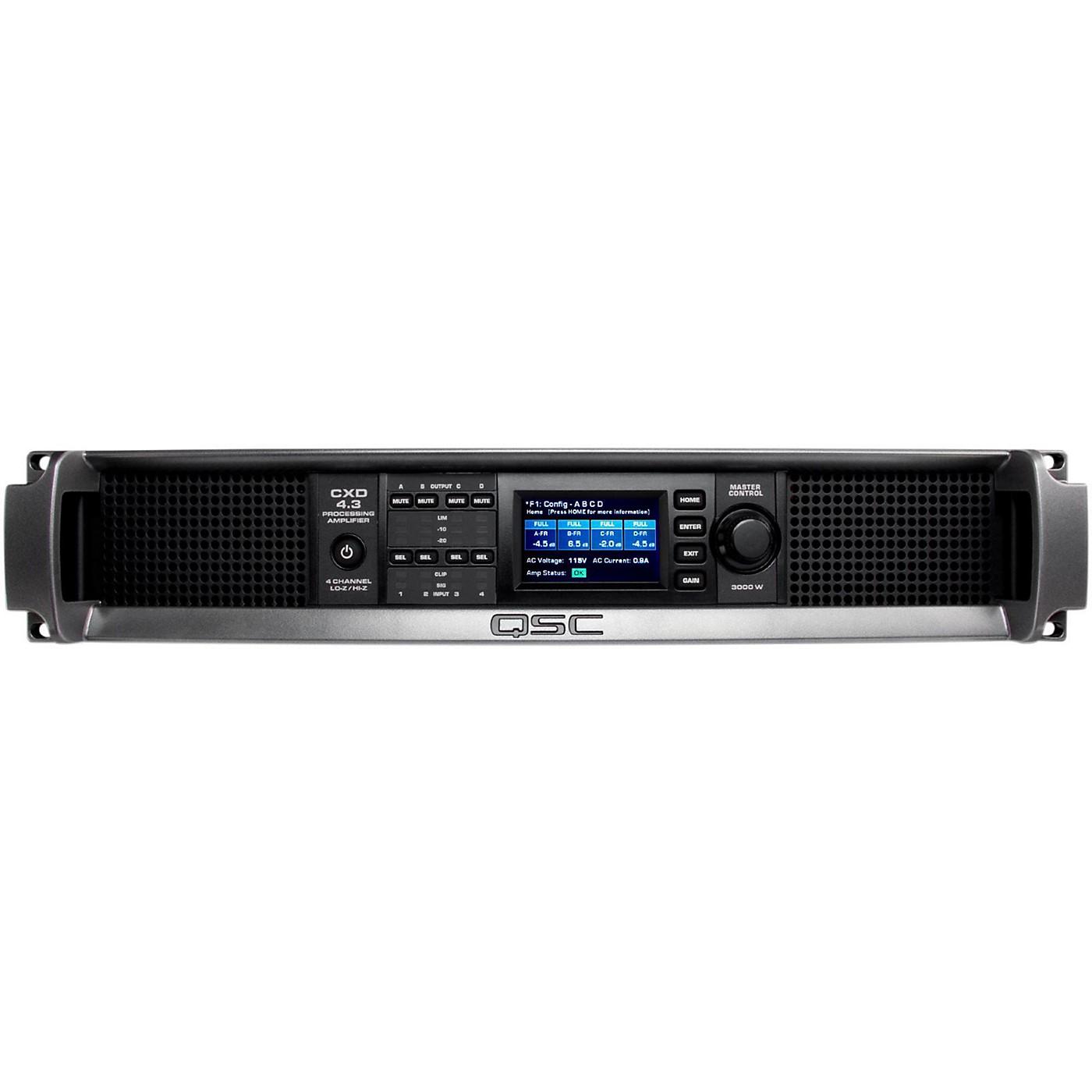 QSC CXD4.3 Multi Channel DSP Amplifier thumbnail