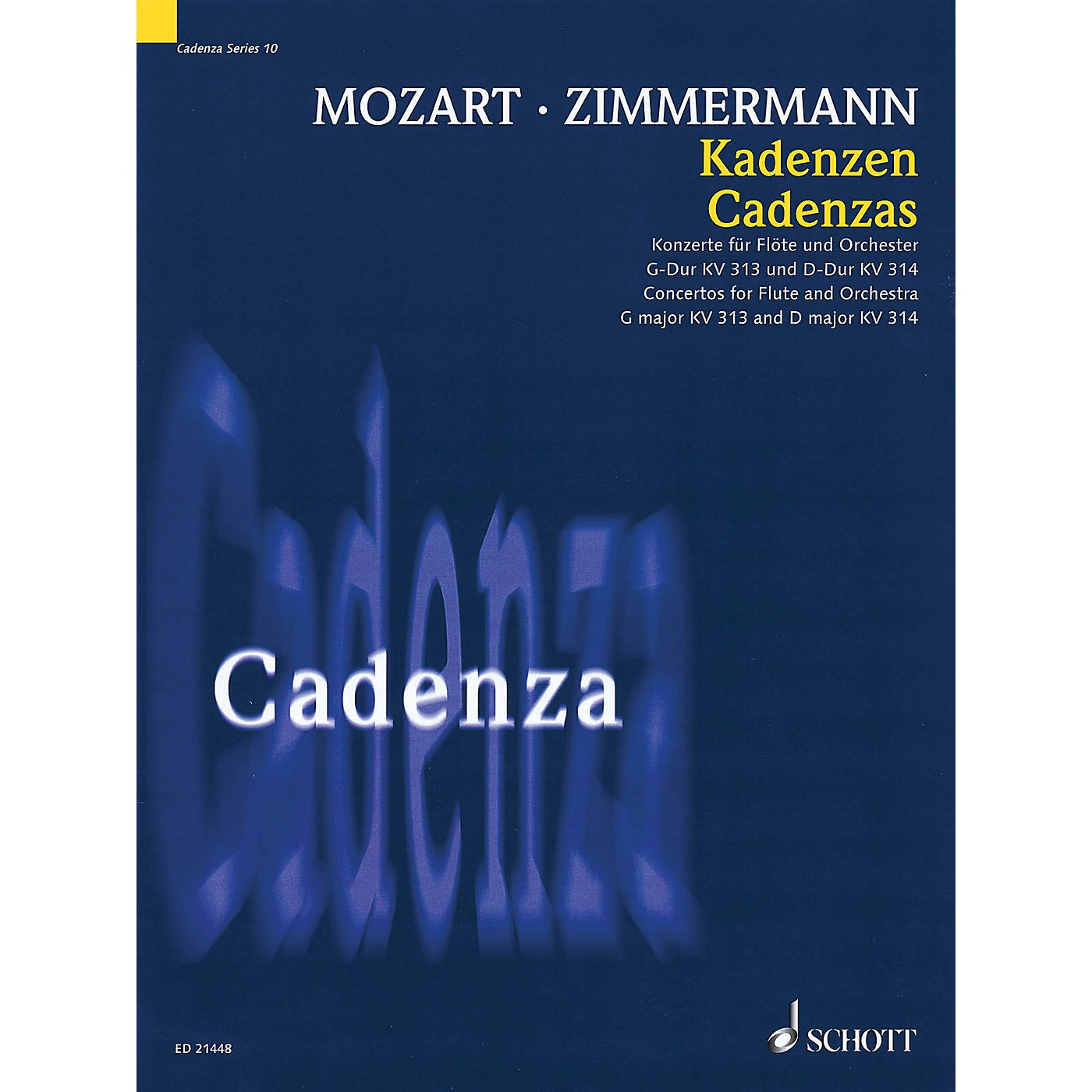 Schott Cadenzas - Concertos for Flute and Orchestra, G Major KV313 and D Major KV314 Woodwind Series Softcover thumbnail