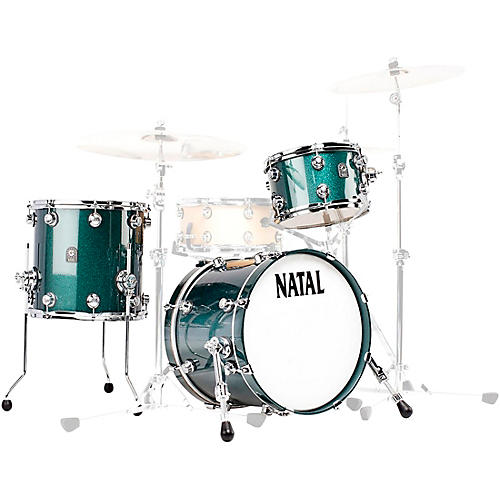 Natal Drums Cafe Racer Traditional Jazz 3-Piece Shell Pack with 18 in. Bass Drum thumbnail