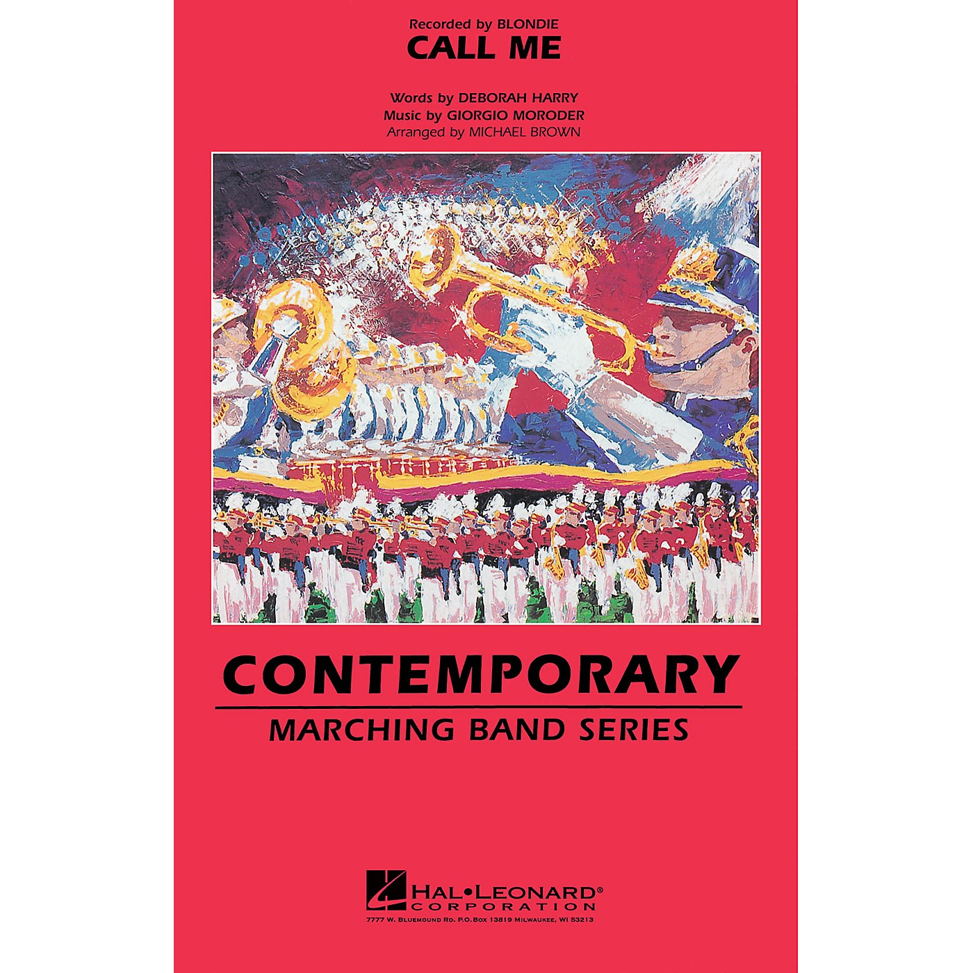 Hal Leonard Call Me Marching Band Level 3 by Blondie Arranged by Michael Brown thumbnail