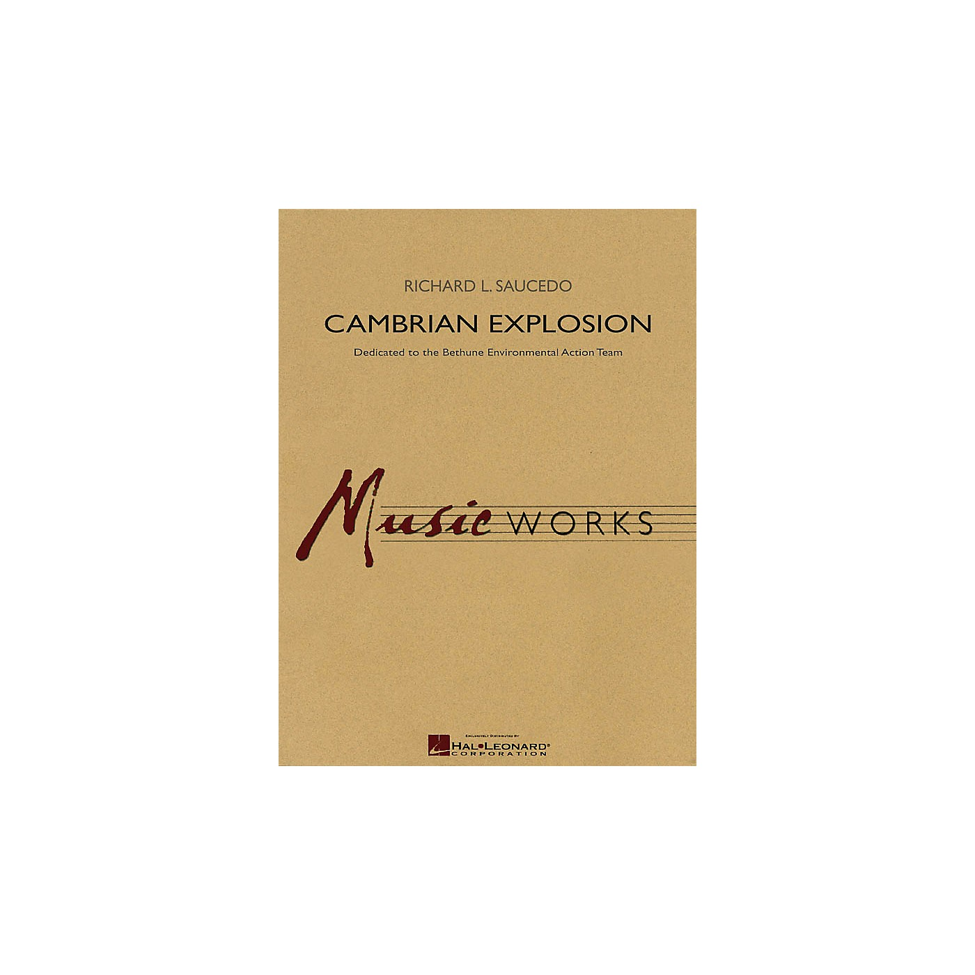 Hal Leonard Cambrian Explosion Concert Band Level 5 Composed by Richard L. Saucedo thumbnail